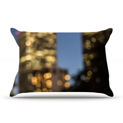 Nola at Night by Ann Barnes City Lights Cotton Sham Size: Queen