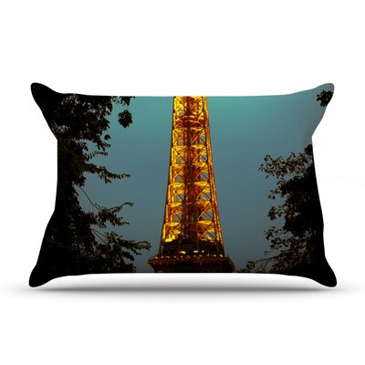 Tour Eiffel by Ann Barnes Cotton Pillow Sham