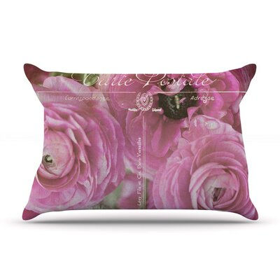 Paris Postcard by Ann Barnes Flowers Cotton Pillow Sham