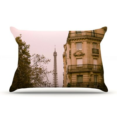 Lady Beckons by Ann Barnes Blush Cotton Pillow Sham