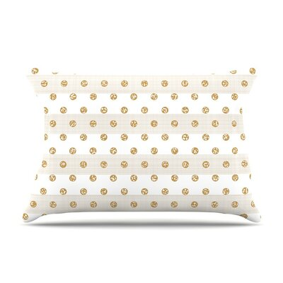 Linen Polka Stripes by Pellerina Design Dots Cotton Pillow Sham