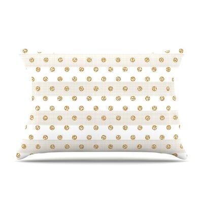 Linen Polka Stripes by Pellerina Design Dots Cotton Pillow Sham