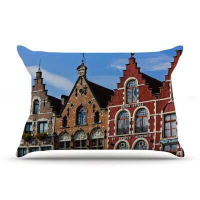 Inbruges by Ann Barnes City Street Cotton Pillow Sham