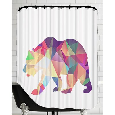 Bear Poly Shower Curtain