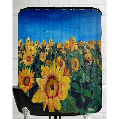 Beautiful Morning at Sunflower Fields Shower Curtain