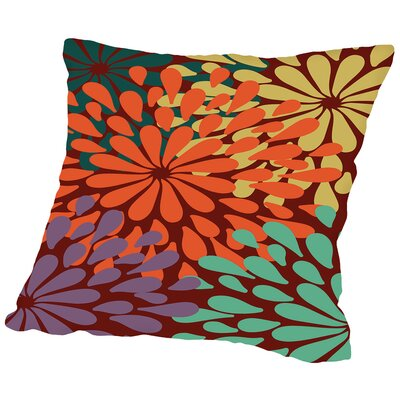 Bee Garden Throw Pillow Size: 18 H x 18 W x 2 D