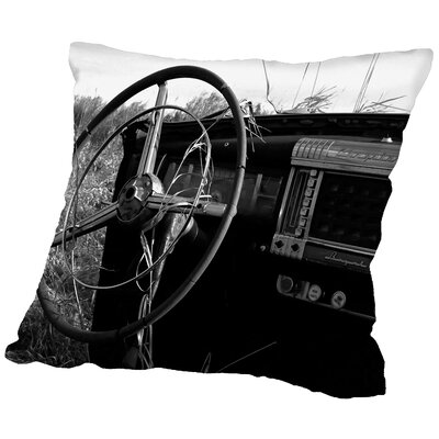 Behind The Wheel Throw Pillow Size: 14 H x 14 W x 2 D
