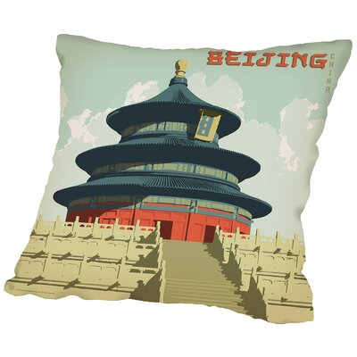 Beijing Throw Pillow Size: 18 H x 18 W x 2 D