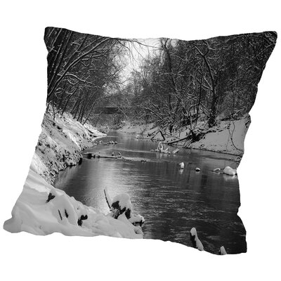 Below The Bridge Throw Pillow Size: 18 H x 18 W x 2 D