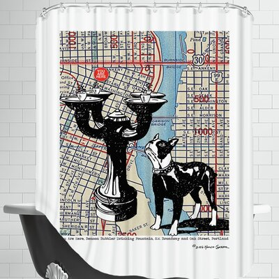 Benson Bubbler Drinking Fountain - Portland Shower Curtain