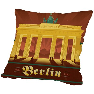 Berlin Throw Pillow Size: 18 H x 18 W x 2 D