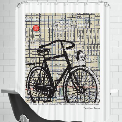 Bicycle on Hawthorne Portland Shower Curtain