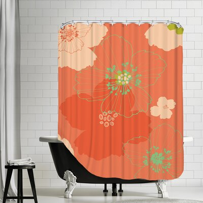 Big Poppy Shower Curtain Color: Blush