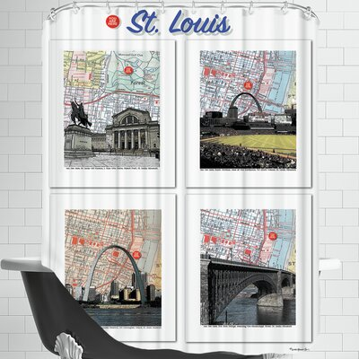 Big St. Louis Poster Shower Curtain