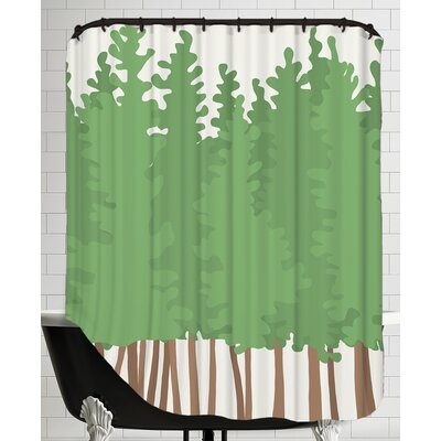 Big Trees Shower Curtain