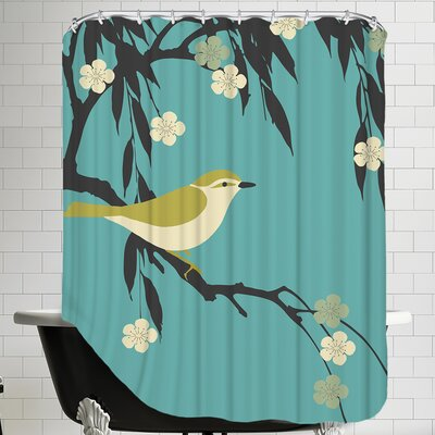 Bird on Branch Shower Curtain