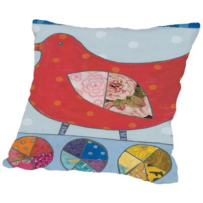 Birdz 1 Throw Pillow Size: 14 H x 14 W x 2 D