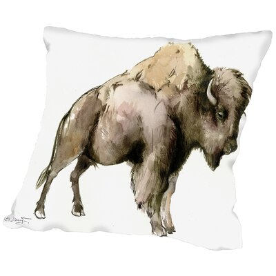 Bison Throw Pillow Size: 14 H x 14 W x 2 D