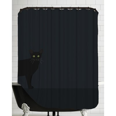 Blackcat Shower Curtain