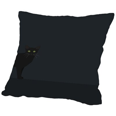 Blackcat Throw Pillow Size: 14 H x 14 W x 2 D