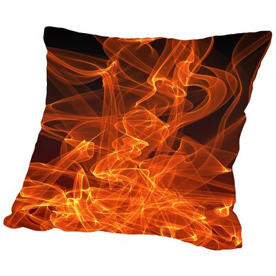 Blaze Away Throw Pillow Size: 18 H x 18 W x 2 D