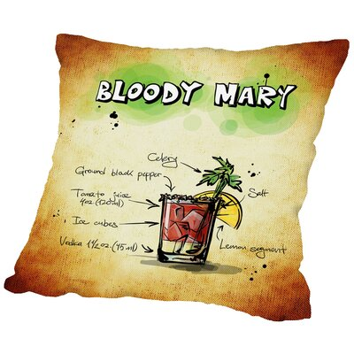 Bloody Mary Cocktail Throw Pillow Size: 18 H x 18 W x 2 D