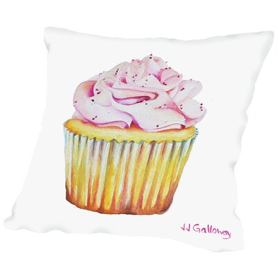 Bon Gateau Rose Throw Pillow Size: 14