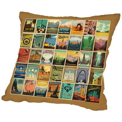 Border Throw Pillow Size: 16 H x 16 W x 2 D