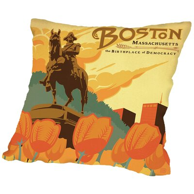 Boston Throw Pillow Size: 16 H x 16 W x 2 D