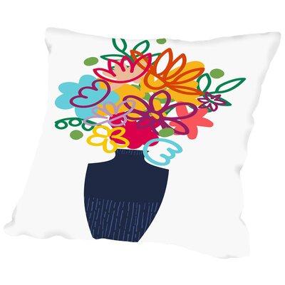 Bouquet Throw Pillow Size: 18 H x 18 W x 2 D