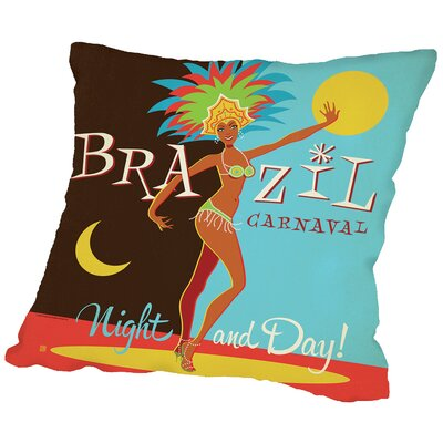 Brazil Carnaval Throw Pillow Size: 16 H x 16 W x 2 D