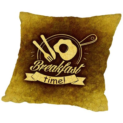Breakfast Time Throw Pillow Size: 18 H x 18 W x 2 D