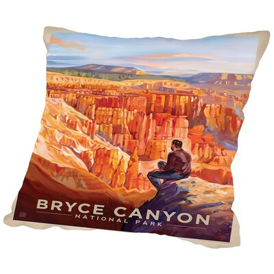 Bryce Canyon Throw Pillow Size: 14 H x 14 W x 2 D