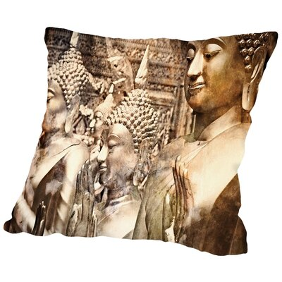 Buddah Thailand Throw Pillow Size: 16 H x 16 W x 2 D