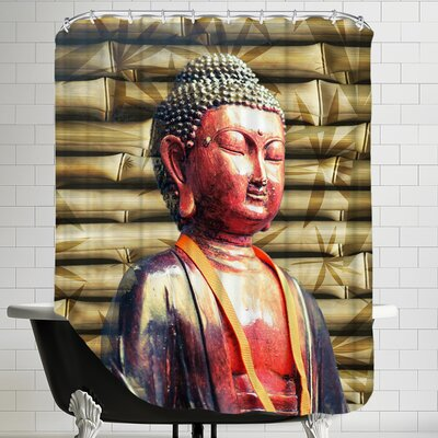 Buddha Bamboo Background Shower Curtain