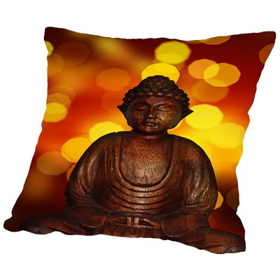 Buddha Bokeh Art Throw Pillow Size: 16 H x 16 W x 2 D