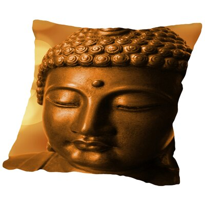 Buddha Meditationn Zen Throw Pillow Size: 18