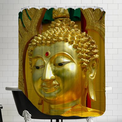 Buddha Symbol Meditationn Shower Curtain