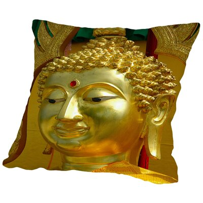 Buddha Symbol Meditationn Throw Pillow Size: 16 H x 16 W x 2 D