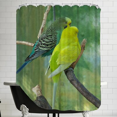 Budgie In The Nature Shower Curtain