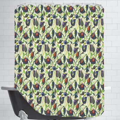 Bugs&Leafs CaraKozik Shower Curtain
