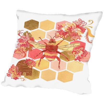 Bumblebee Onefeinday Throw Pillow Size: 18 H x 18 W x 2 D