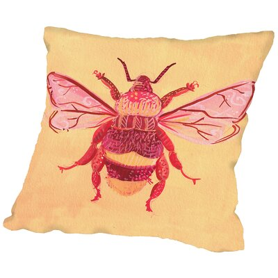 Bumblebee Throw Pillow Size: 14 H x 14 W x 2 D