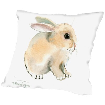 Bunny Throw Pillow Size: 18 H x 18 W x 2 D