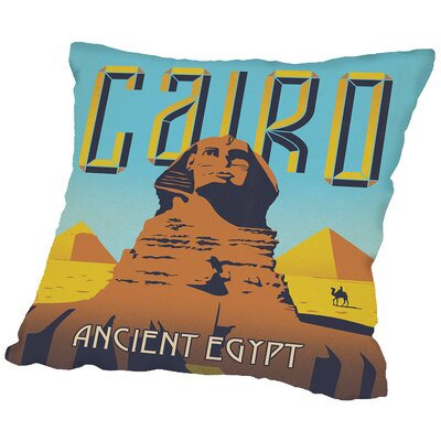 Cairo Throw Pillow Size: 18 H x 18 W x 2 D