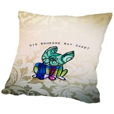 Cake Throw Pillow Size: 14 H x 14 W x 2 D