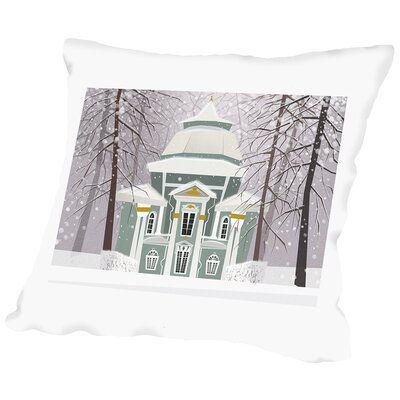 A Winter Scene Throw Pillow Size: 16 H x 16 W x 2 D