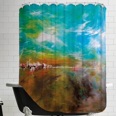 Abdikation Terrestre Shower Curtain