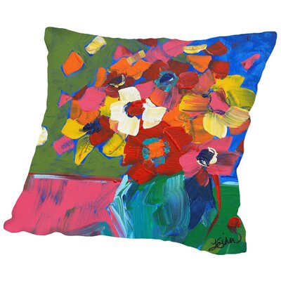 Vase Throw Pillow Size: 14 H x 14 W x 2 D