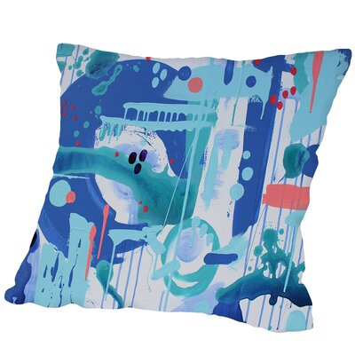 Abstract Marble Outdoor Throw Pillow Size: 18 H x 18 W x 2 D